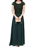 baratos Vestidos de Mulher-Mulheres Tamanhos Grandes Feriado Moda de Rua Algodão Solto Bainha Vestido Sólido Longo / Verão