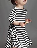 tanie Sukienki dla dziewczynek-Brzdąc Dla dziewczynek Prążki Prążki Długi rękaw Sukienka