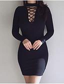 זול שמלות נשים-מיני אחיד - שמלה צינור נדן חמוד בגדי ריקוד נשים