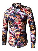 billige Herreskjorter-Skjorte Herre - Fargeblokk Vintage