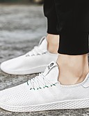 hesapli Buz Pateni Elbiseleri-Erkek Ayakkabı Tül Bahar Yaz Sonbahar Rahat Düz Ayakkabılar Koşu Günlük için Bağcıklı Beyaz Siyah Gri Kırmzı