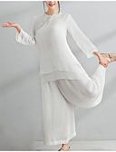 povoljno Ženski dvodijelni kostimi-Žene Pamuk Kinezerije Set - Jednobojni Hlače