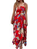 tanie Print Dresses-Damskie Podstawowy Szczupła Spodnie - Kwiaty / Geometric Shape Czerwony / Pasek / Święto / Wzory kwiatów