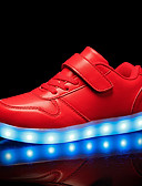 cheap Girls' Clothing-Boys' / Girls' Shoes PU Spring Light Up Shoes Sneakers LED for Kid's White / Black / Red