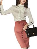 זול שמלות נשים-חצאית גיאומטרי - חולצה בגדי ריקוד נשים