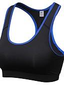 baratos Calças Femininas-Sutiã Esportivo Alta Sustentação Para Exercício e Atividade Física - Vermelho Rosa / Azul / Cinzento Respirabilidade Mulheres Sólido Poliéster