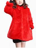 tanie Kurtki i płaszcze dla dziewczynek-Dzieci Dla dziewczynek Elegancka odzież Solidne kolory Długi rękaw Bawełna Kurtka / płaszcz