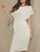 tanie Sukienki-Damskie Bawełna Spodnie - Solidne kolory Biały