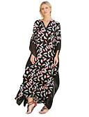 olcso Női ruhák-Női Boho Swing Ruha Virágos Maxi