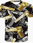 tanie Koszulki i tank topy męskie-T-shirt Męskie Wojsko Geometric Shape / Krótki rękaw