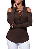 olcso Női kesztyűk-Szabadság Aktív / Alap V-alakú Vékony Női Pamut Póló - Egyszínű, Kollázs / Tavasz / Nyár / Fűzőzsinor