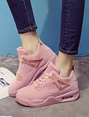 رخيصةأون تنانير نسائية-للمرأة أحذية جلد ربيع / خريف مريح أحذية رياضية Creepers أسود / رمادي / زهري