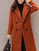 cheap Women's Coats & Trench Coats-Women's Basic Pea Coat-Solid Colored