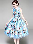 tanie Sukienki-Damskie Boho / Wyrafinowany styl Szczupła Spodnie - Kwiaty Nadruk Niebieski / Święto