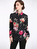 cheap Women's Sweaters-Women's Street chic Shirt - Floral Shirt Collar