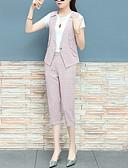 זול חליפות שני חלקים לנשים-מכנס קולור בלוק - Polo בגדי ריקוד נשים / קיץ