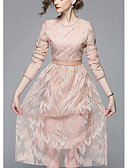 tanie Sukienki-Damskie Szczupła Spodnie - Solidne kolory Rumiany róż / Wyjściowe