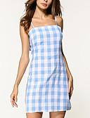 preiswerte Damen Kleider-Damen Ausgehen Street Schick Etuikleid Kleid Verziert Übers Knie Gurt / Frühling / Sommer
