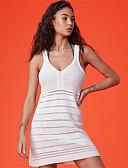 ieftine Tricou-Pentru femei De Bază Cu Bretele Alb Fustă Șal Costume de Baie - Mată Mărime unică / Sexy