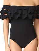 tanie Bikini i odzież kąpielowa 2017-Damskie Bez ramiączek Jednoczęściowy Solidne kolory Dół typu Cheeky