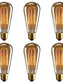 abordables Velos de Boda-BRELONG® 6pcs 40W E26 / E27 Amarillo 2000-2200k Decorativa Bombilla incandescente Vintage Edison 220-240V