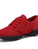 tanie Damskie szaliki-Damskie Adidasy do tańca Tiul Adidasy Płaski obcas Personlaizowane Buty do tańca Czarny / Fuksja / Czerwony