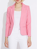 cheap Women's Blazers-Women's Work Blazer - Solid Colored Simple