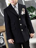 お買い得  男児 ジャケット&コート-男の子 ソリッド その他 ジャケット&コート 長袖 ブラック
