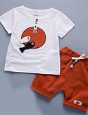 billige Sett med Gutter babyklær-Baby Gutt Grunnleggende Daglig Ensfarget Kortermet Normal Tøysett Rød