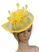 cheap Mother of the Bride Dresses-Flax Headpiece with Feather 1pc Wedding / Special Occasion Headpiece