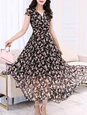 رخيصةأون فساتين مطبوعة-فستان نسائي متموج طويل للأرض نحيل ورد مناسب للحفلات