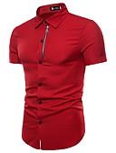 tanie Męskie koszule-Koszula Męskie Podstawowy Bawełna Praca Szczupła - Jendolity kolor / Krótki rękaw