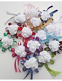 olcso Menyasszonyi ruhák-Esküvői virágok Virágcsokrok csuklóra Esküvő / Különleges alkalom Selyem / Hab 0-10 cm