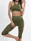 ieftine Leggings-Pentru femei Αθλητικό σουτιέν με παντελόνι για τρέξιμο Sport Spandex, Plasă Set de Îmbrăcăminte Yoga, Fitness, Sală de Fitness Fără manșon Îmbrăcăminte de Sport  Respirabil, Uscare rapidă, Design