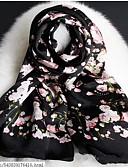 baratos Luvas Femininas-Mulheres Férias Seda, Retângular Estampado / Primavera / Outono