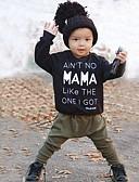 Χαμηλού Κόστους Βρεφικά Για Αγόρια σετ ρούχων-Μωρό Αγορίστικα Ενεργό Καθημερινά Στάμπα Μακρυμάνικο Μακρύ Βαμβάκι / Πολυεστέρας Σετ Ρούχων Μαύρο / Νήπιο