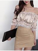 povoljno Vintage kraljica-Majica s rukavima Žene - Vintage Dnevno Jednobojni Drapirano Crno-crvena