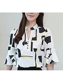 ieftine Bluză-Pentru femei În V Bluză Geometric