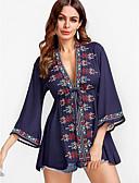 זול ביקיני ובגדי ים-אחיד / פרחוני V עמוק Polo - בגדי ריקוד נשים