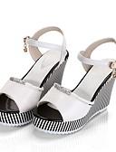 cheap Women's Dresses-Women's Shoes PU(Polyurethane) Summer Comfort Heels Wedge Heel White / Black