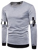 זול חולצות לגברים-אחיד טרנינג בסיסי / סגנון רחוב בגדי ריקוד גברים
