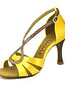abordables Chaquetas con Capucha para Mujer-Mujer Zapatos de Baile Latino / Zapatos de Salsa Satén / Seda Sandalia / Tacones Alto Hebilla / Corbata de Lazo Tacón Personalizado