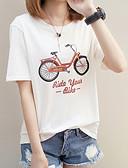 abordables Faldas para Mujer-Mujer Básico Festivos Estampado - Algodón Camiseta Geométrico / Letra / Verano