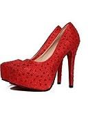 ieftine Șosete & Ciorapi-Pentru femei Pantofi Sclipici Spumant / Piele Vară Balerini Basic pantofi de nunta Toc Înalt Vârf ascuțit Sclipici Strălucitor Argintiu /