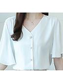 ieftine Pantaloni de Damă-Pentru femei În V Bluză Mată