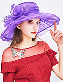 cheap Party Headpieces-Women's Basic / Holiday Sun Hat - Solid Colored Bow / Fabric / Summer