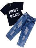 povoljno Hlače za dječake-Dijete koje je tek prohodalo Dječaci Jednobojni / Print Kratkih rukava Komplet odjeće