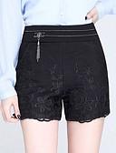baratos Calças Femininas-Mulheres Básico / Moda de Rua Chinos Calças - Sólido