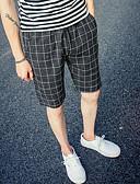 tanie Męskie spodnie i szorty-Męskie Sportowy / Prosty Typu Chino / Szorty Spodnie Solidne kolory / Kratka