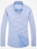 お買い得  メンズシャツ-男性用 ワーク シャツ ビジネス / ベーシック スリム ソリッド / カラーブロック コットン ピンク 41 / 長袖